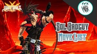 Sol Badguy -COMPLETE MOVELIST-