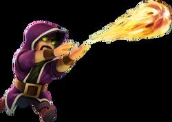 Wizard level6 attacks