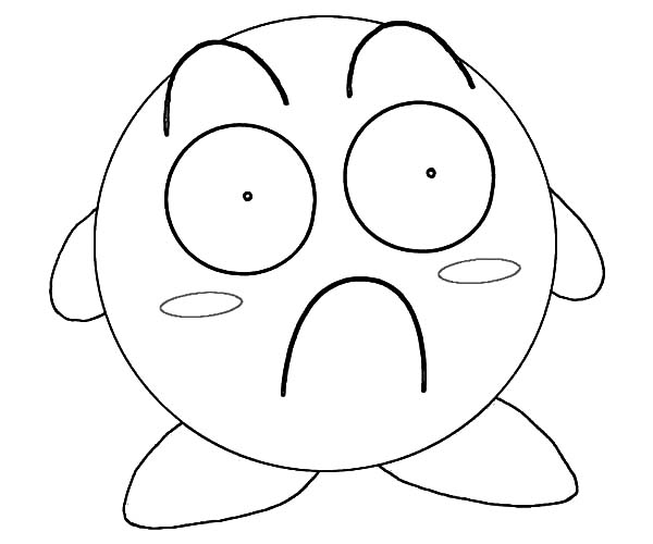 Image - Kirby-Surprised-Coloring-Pages.jpg | VS Battles Wiki ...