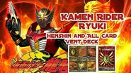 Kamen Rider Ryuki Henshin and All Card Vent Deck
