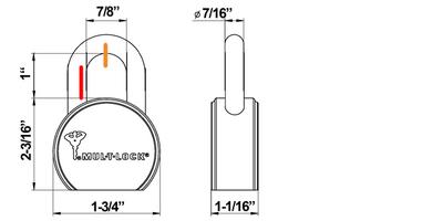 MUL-T-LOCK-TSR25 size