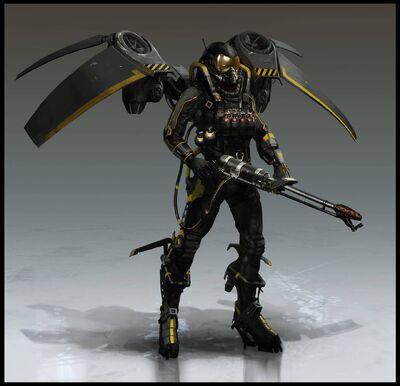 Arkham Origins Firefly Concept Art