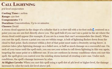 DnD- Call Lightning