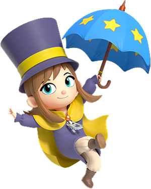 A Hat in Time Hat Kid (3D Render)