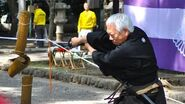 Tameshigiri - Japanese Sword Test Cutting in Fuchu