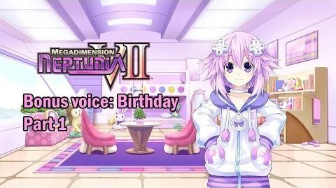 Eng sub Megadimension Neptunia VII - Bonus Voice Birthday, Part 1 (Visualized)