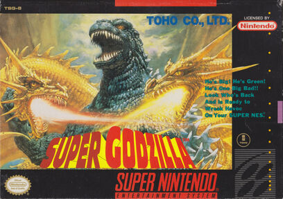 Super Godzilla - SNES - North American Box art
