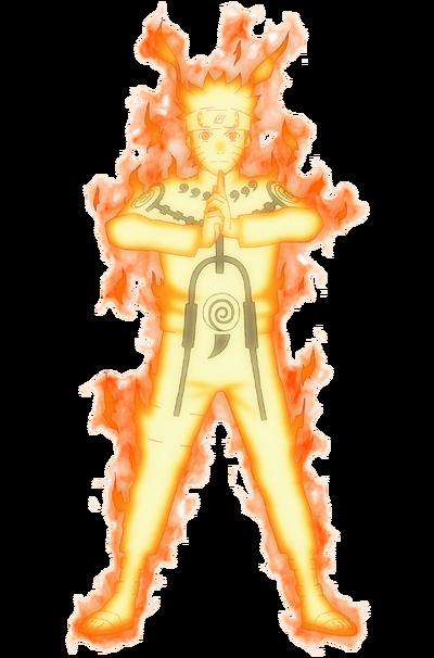 Naruto's Nine-tails chakra mode