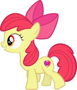 Apple Bloom with her Cutie Mark