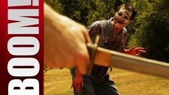 The Katana Test! Dead Rising in real life. Dead Island in real life