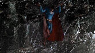 Superman lifts a island Superman Returns