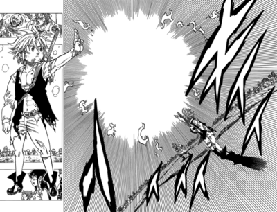 Meliodas using Counter Vanish