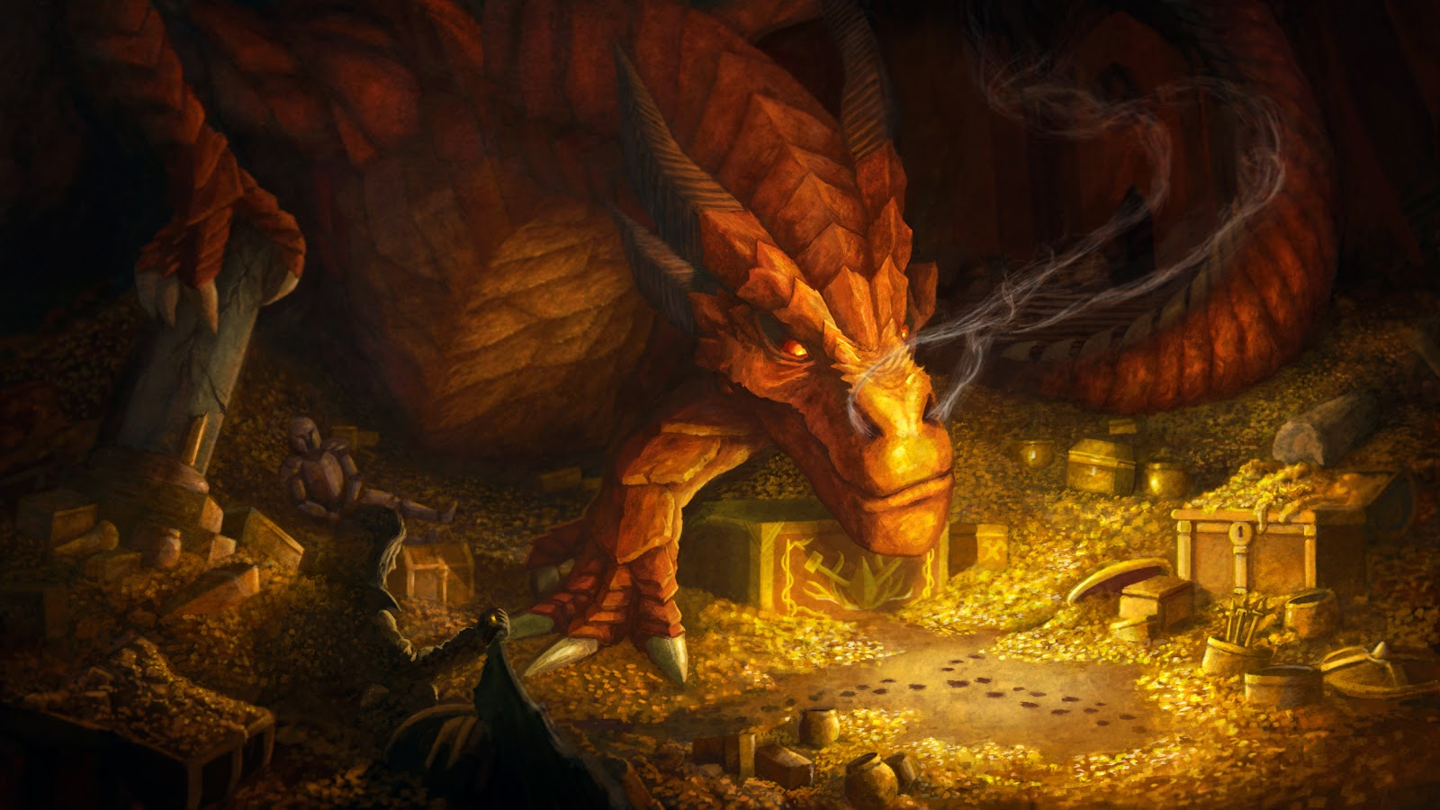Hobbit Desolation Of Smaug Dragon 5534 Hd Widescreen Wallpapers