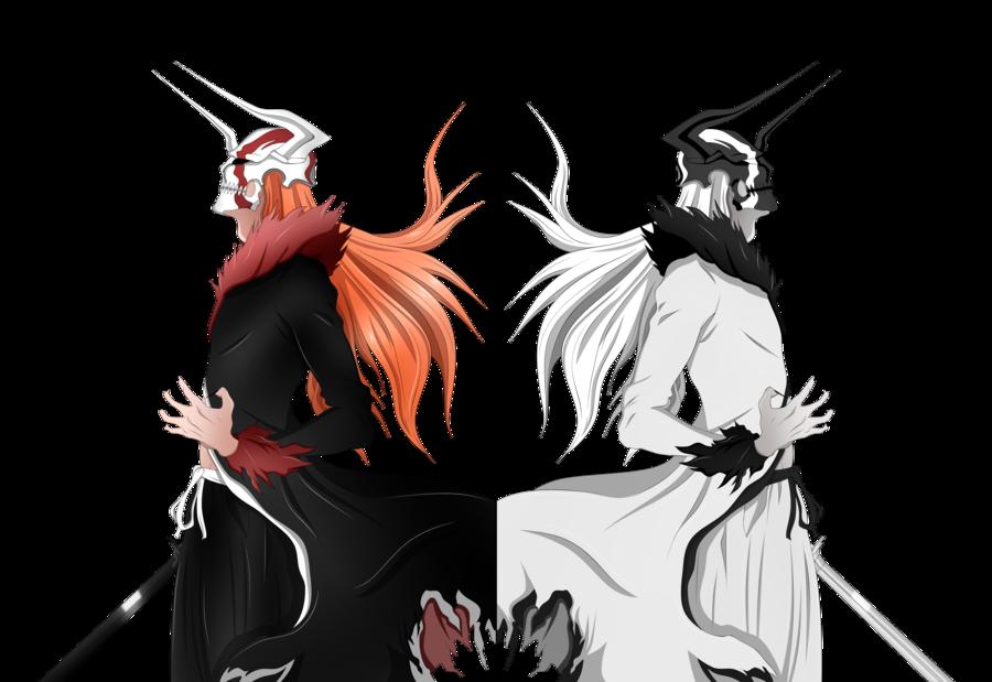 image shirosaki e kurosaki vasto lorde colored by lordbalda