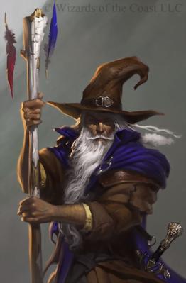 Forgotten Realms - Elminster Aumar by Tyler Jacobson