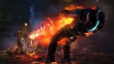 XCOM EU Sectopod Firing its cannon