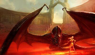 Drogon in Daznak's Pit