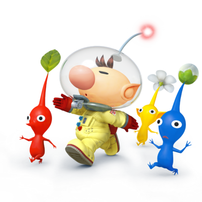 Captain Olimar and Pikmin - Super Smash Bros. for Nintendo 3DS and Wii U