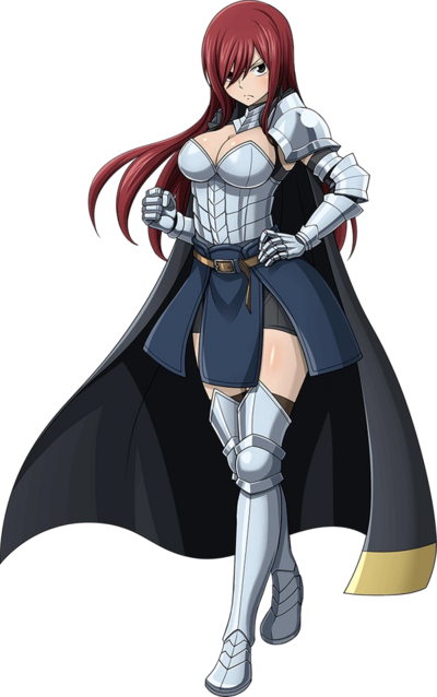 Erza Scarlet With Cape