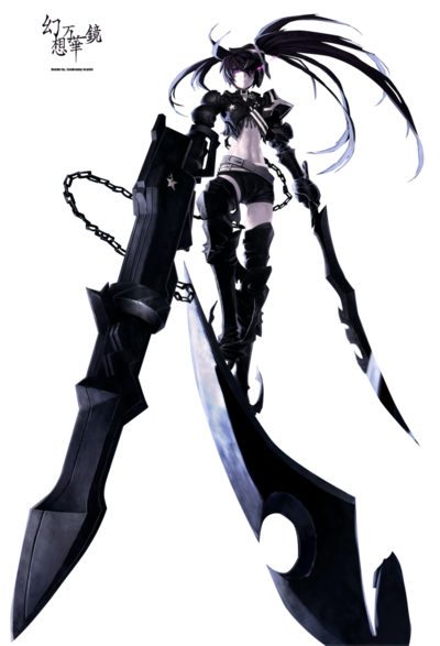 Insane black rock shooter render by awakening scarlet-d4x5xto