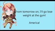 Marukaite Chikyuu-America's Character Theme Song