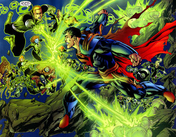 Attacked by Green Lanterns