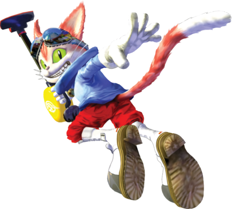 Blinx the Timesweeper Pose 1 Edit
