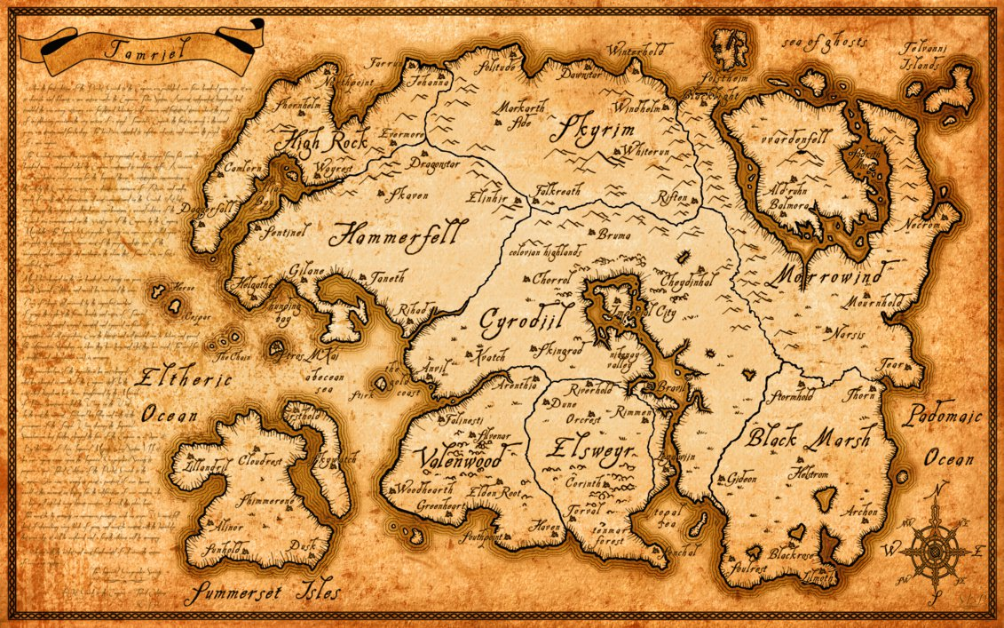 Image - High resolution tamriel map elder scrolls series by belhene ...
