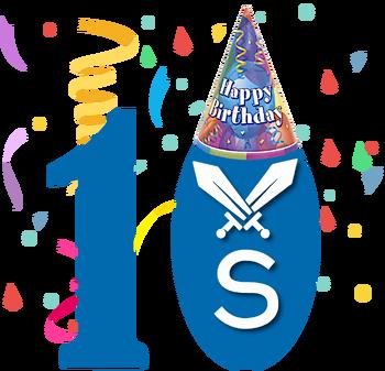 VSBattlesWiki 10Year Celebration Logo
