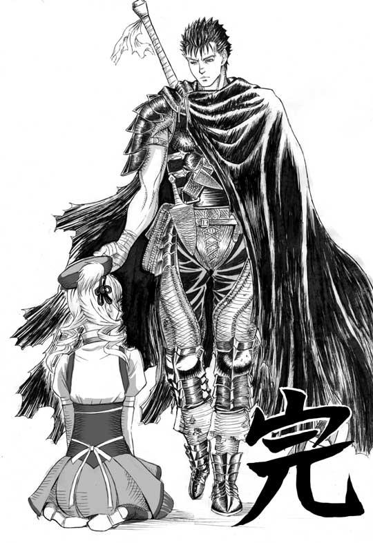 Guts And Tomoe Mami Berserk Mahou Shoujo Madoka Magica Drawn By Nemo Nameless920 15e47bff0b4c77f25f85ef7c72c83e4d