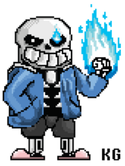Sans the skeleton arcade style sprite by howlingwolf142-d9kenp9