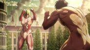 Attack on Titan Season Finale - Eren vs Annie, 2nd Confrontation Full Fight HD