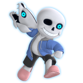 Sans smash ultimate fan render by unbecomingname ddfo4hd-pre