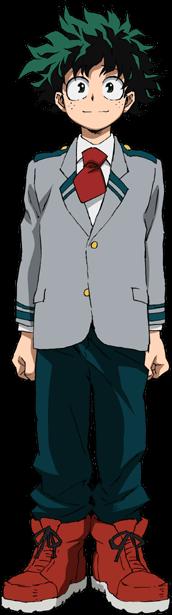 Izuku Midoriya School Uniform Full Body
