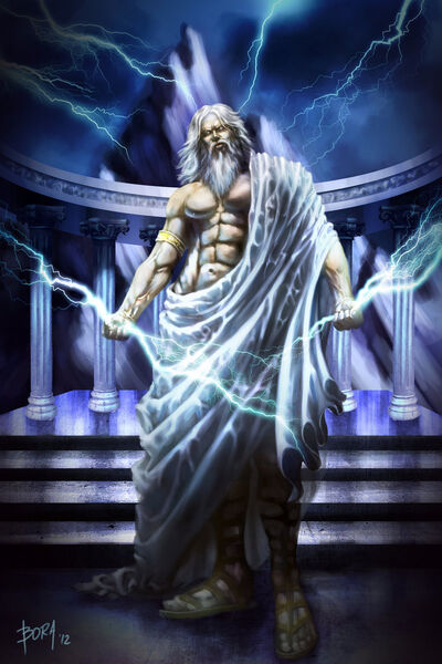 Zeus Jupiter Greek God Art 14 by donquijote10