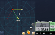 Radar toggle laylines
