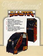 Blaster arcade flyer