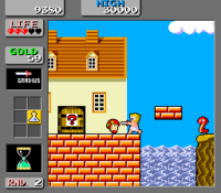 Wonder Boy in Monster Land arcade screenshot