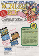 Wonder Boy arcade flyer