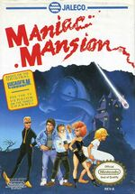 Maniac Mansion NES cover