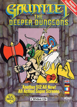 Gauntlet The Deeper Dungeons C64 cover