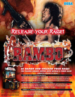 Rambo arcade flyer