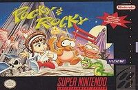 Pocky And Rocky SNES cover