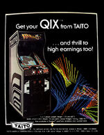 Qix arcade flyer