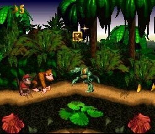 File:Donkey Kong Country SNES screenshot.jpg