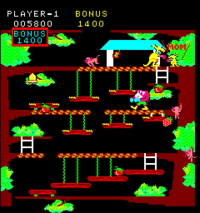 Kangaroo arcade screenshot
