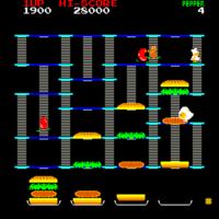 BurgerTime arcade screenshot