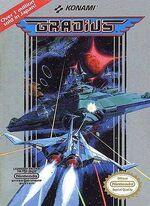 Gradius NES box