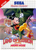 Mickey Mouse Land of Illusion SMS box art