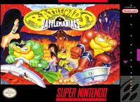Battletoads In Battlemaniacs SNES Cover